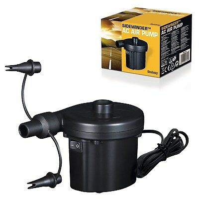 Bestway Inflatable Air Bed Pump & Europe/UK Mains Electric Power Travel Adapter