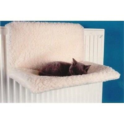 Pet Cat Fleece Radiator Bed - Dog Hammock Washable New