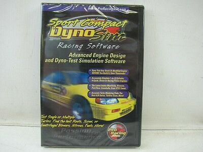 Pro Racing Dyno SPORT COMPACT Dyno Sim Simulation Desk Top Software  DVD