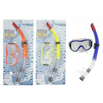Adult High Quality Mask & Snorkel Set - Deluxe & Snorkling Swimming Swim Pool