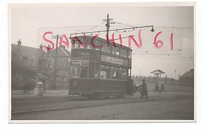 Leicester Tram  Postcard Size Old Photo   Car 38 Ref 29
