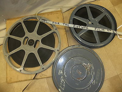Cine films BOX & metal case FUEL FOR THE FUTURE nuclear ?  black &w 16mm @2000ft