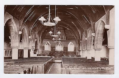 P2851 Original old RP postcard of Church Interior, Llanelli