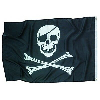 Amscan Jolly Roger Flagge - Geburtstagsdekoration Piraten Party Kinder Motto