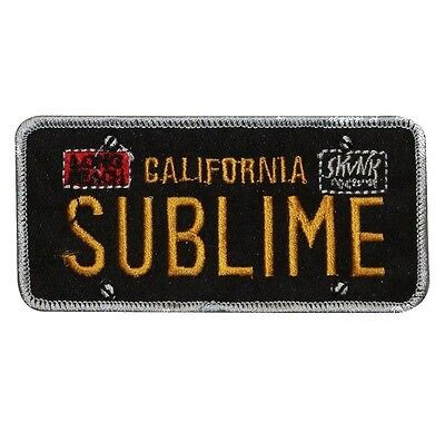 """""""Sublime: California"""" License Plate Ska Punk Band Logo Iron On Applique Patch"""