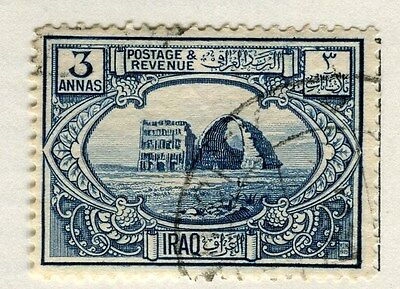 IRAQ;  1923 early Pictorial issue fine used 3a. value