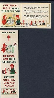 "1959 Christmas Seals 7"" Bookmark & Label - Fight Tuberculosis - NTA -  Item#3898"