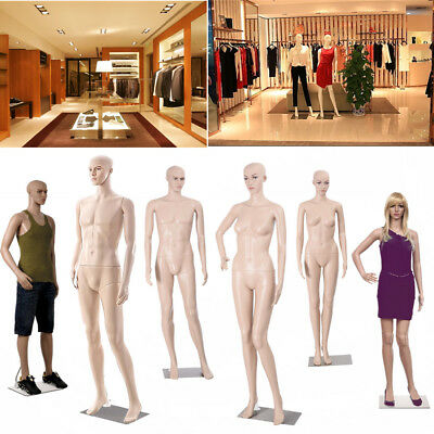 Full Body Dummy Mannequin Female Male Shop Window Showcase Display  Dressmaker