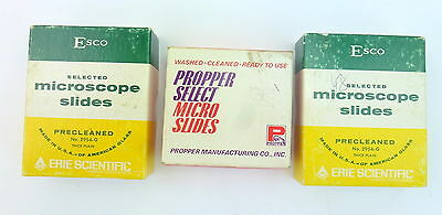 3 Boxes New Precleaned Plain Microscope Slides Esco Propper Select Ready To Use