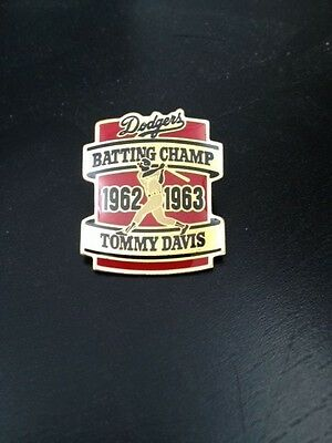 Pin for Los Angeles Dodgers Tommy Davis Batting Champ 1962 - 1963