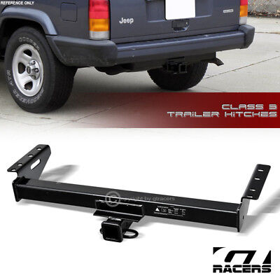 """Class 3 Trailer Hitch Receiver Rear Bumper Towing 2"""" For 1984-2001 Jeep Cherokee"""