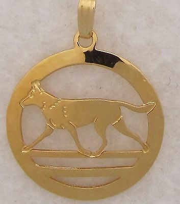 Belgian Malinois Jewelry Gold Pendant by Touchstone Dog Designs