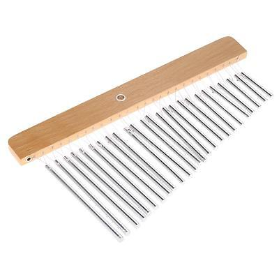 25-Tone Bar Chimes 25 Bars Single-row Musical Percussion Instrument Silver Z2G7