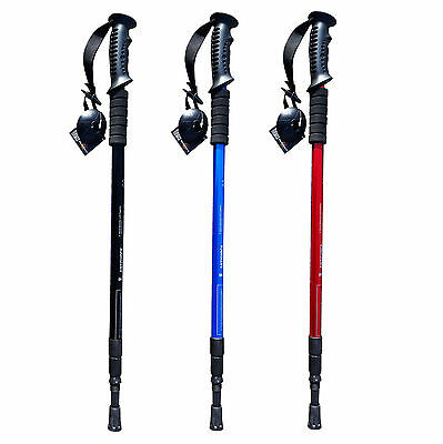 Antishock Outdoor Walking Hiking Stick Lightweight Telescopic Trekking Pole SALE
