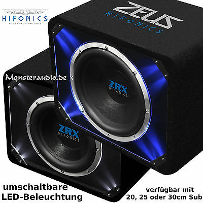 hifonics zeus zrx 8 20cm subwoofer 700 watt auto bassbox. Black Bedroom Furniture Sets. Home Design Ideas