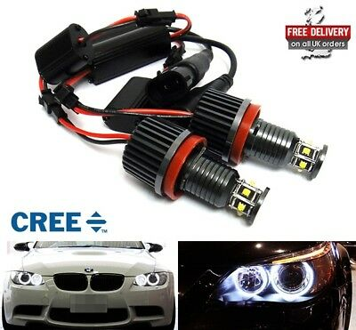 BMW E92 E93 E90 E82 E60 E70 E71 60W LED Angel Eye Halo Ring Light H8 Bulb Canbus