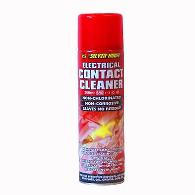 2 Silverhook Electrical Contact Cleaner/Switch Cleaner Spray 500ml Aerosol Can