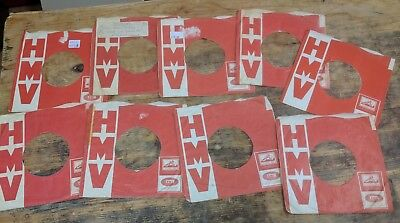 original 1 x HMV HIS MASTERS VOICE RED RECORDS company sleeve right LOGO 6/-