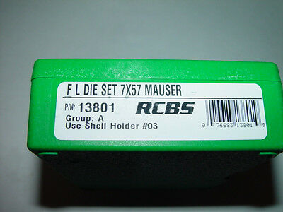 RCBS 7x57 Mauser Rifle Reloading FL Die Set 13801 FREE PRIORITY SHIPPING