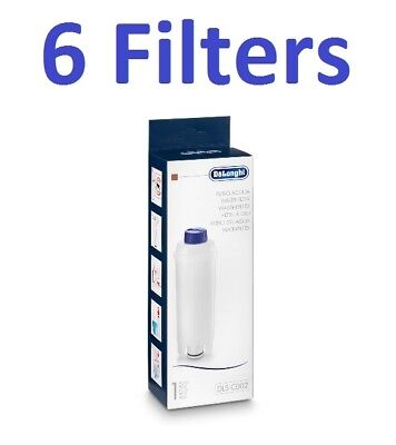 Delonghi Bean to Cup and Espresso Water Filter 6 Pack