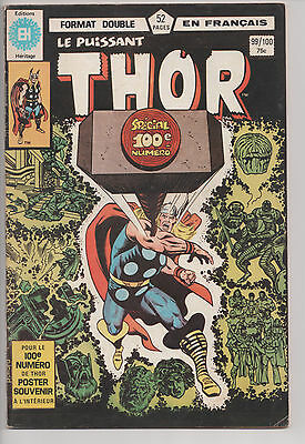THOR #99/100 french comic EDITIONS HERITAGE poster