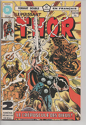 THOR #109/110 french comic EDITIONS HERITAGE [#300]