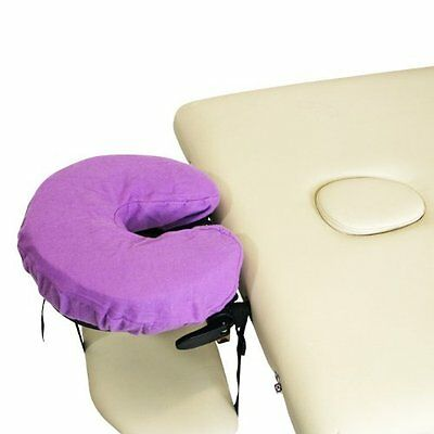Flannel Crescent Pillow Covers for Massage Tables 3 Pcs (Lavender) by BodyChoice