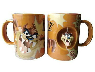 Looney Tunes Tazmanian Devil Taz Figure Ceramic Spinner Coffee Mug, NEW UNUSED