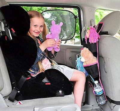 Backseat Car Organizer (blue or pink) + sun shades set + Travelling Games ebook