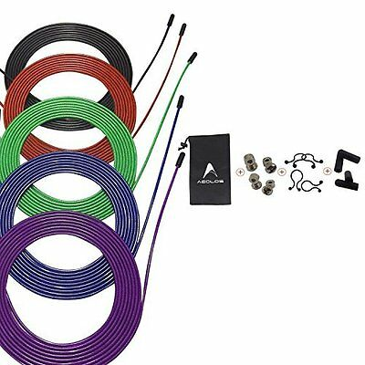 Speed Jump Rope Cable, 5 Pack 10ftwith Nylon Polymer Coating by AEOLOS