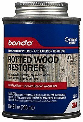 8 Oz Rotted Wood Restorer - Water-Resistant & Paintable Smooth Finish by Bondo