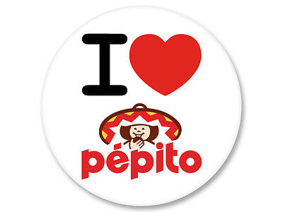 Pin Button Badge Ø25mm I Love J'Aime Galette Biscuit Pepito