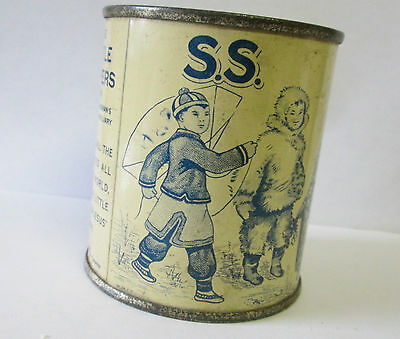 VINTAGE Tin Coin Bank WOMENS AUXILIARY SUNDAY SCHOOL THE LITTLE HELPERS