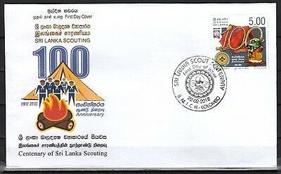 * Sri Lanka, 2012 issue. Scouting Centenary of Sri Lanka, First day cover.
