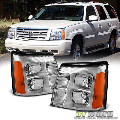 2003-2006 Cadillac Escalade Replacement Headlights Headlamps For 03-06 HID Model