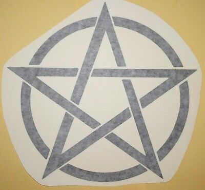 Pentagram pentacle Sun Pagan Wicca Wall Art Vinyl Sticker new age decal Wiccan