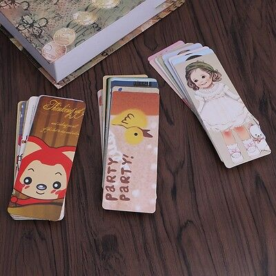 30 Pcs Creative Cartoon Bookmarks Note Pad Memo Label Stationery Book Mark Gift