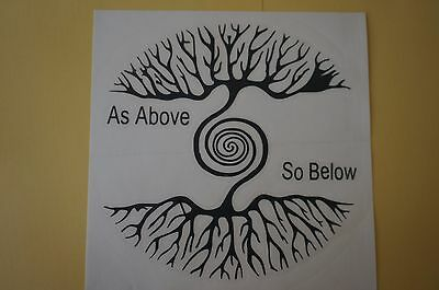 As Above so Below Tree Vinyl Sticker new age decal Pagan Wicca Wall Art witch