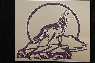 Wolf Howling Vinyl Sticker new age decal Pagan Wicca Wall Yoga removable Art