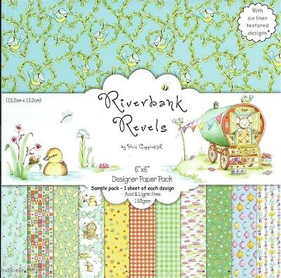 Dovecraft Riverbank Revels Papers 6 X 6 Sample Pack 1 Of Each Design - 12 Sheets
