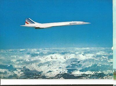 Cp Avion Concorde Air France En Vol F-????