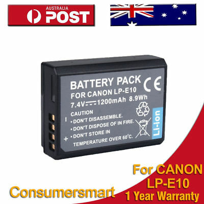 LP-E10 1200mAh Battery for Canon EOS 1100D 1200D KISS X50 Rebel T3 LPE10 Camera