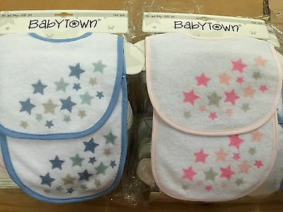 Job lot of baby bibs and burp cloths, gift sets