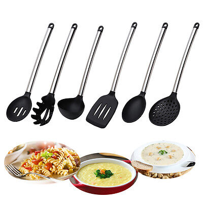 Silicone & Stainless Steel Cooking Utensil Kitchen Tools Gift Set Spatula Spoon