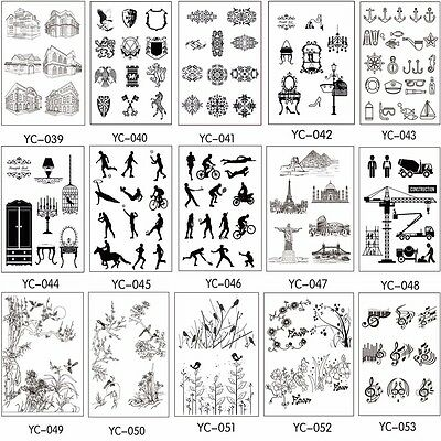 Various Parttens Transparent Clear Rubber Stamp Sheet Cling Scrapbooking DIY