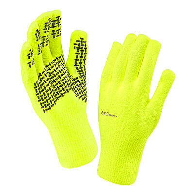 2016 SealSkinz Ultra Grip Waterproof & Windproof Gloves - Hi Vis Yellow
