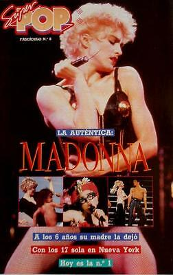 SUPER POP Supplement # 6 Special MADONNA Spanish mag 1990 Complete w/ Poster! NM