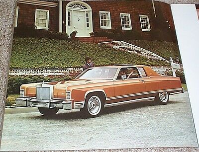 1977 Lincoln Town Car Town Coupe Sedan Coupe 20 Page Deluxe Sales Brochure