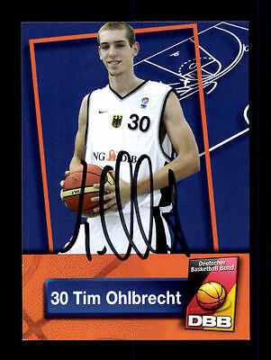 Tim Ohlbrecht Autogrammkarte Basketball Nationalmannschaft 2007-08+ A 145256