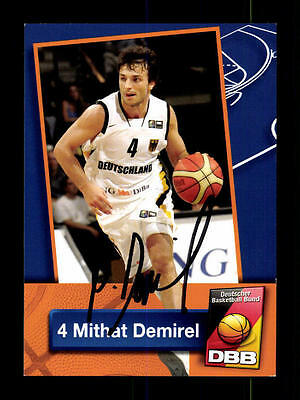 Mithat Demirel Autogrammkarte Basketball Nationalmannschaft 2004-05  + A 145238